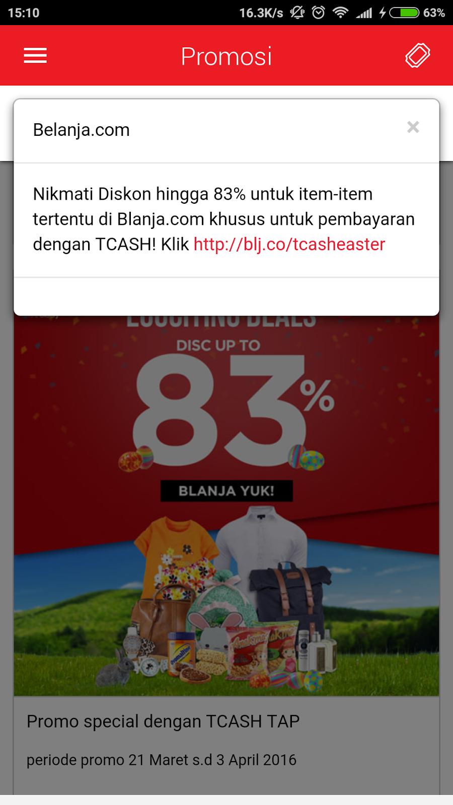 Promo Online Shopping di Blanja com dengan T-Cash Payment